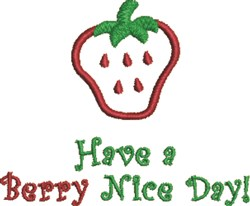 Berry Nice Day embroidery design