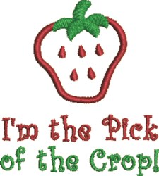 Pick Of The Crop embroidery design