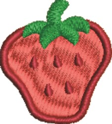 Big Strawberry embroidery design