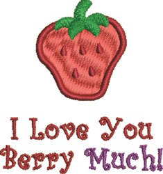 Love You Berry Much embroidery design