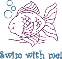 Swim With Me embroidery design