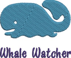 Whale Watcher embroidery design