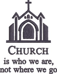 Who We Are embroidery design