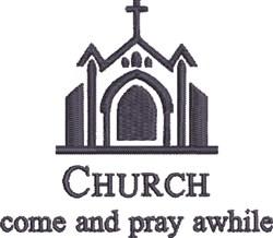 Pray Awhile embroidery design