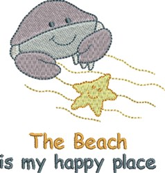 Happy Place embroidery design