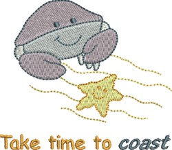 Time To Coast embroidery design