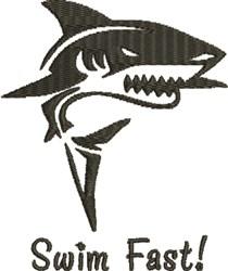 Swim Fast embroidery design