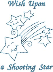 Wish Upon Star embroidery design