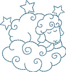 Sleepy Sheep embroidery design