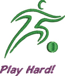 Play Hard embroidery design