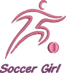 Soccer Girl embroidery design