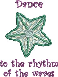 Rhythm Of Waves embroidery design