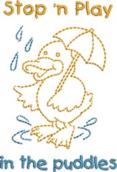 Play In Puddles embroidery design
