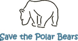 Save The Polar Bears embroidery design