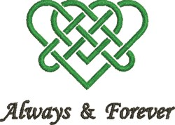 Celtic Heart Always... embroidery design