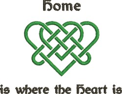 Celtic Heart Home Is... embroidery design