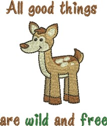 All Good Things Deer embroidery design