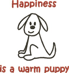 Warm Puppy Happiness embroidery design