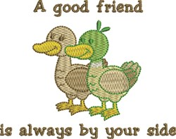 Duck Friendship embroidery design