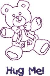 Hug Me Teddy embroidery design