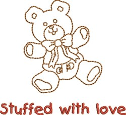 Stuffed With Love Teddy embroidery design
