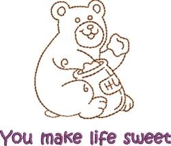 Sweet Honey Bear embroidery design