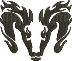 Ram Head Logo embroidery design