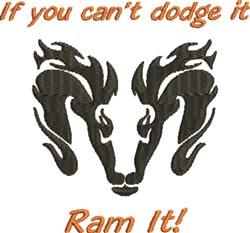Ram It embroidery design
