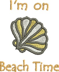 Beach Time Seashell embroidery design