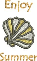 Enjoy Summer Seashell embroidery design