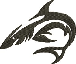 Tiger Shark embroidery design