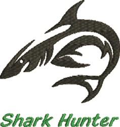 Shark Hunter embroidery design