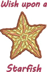 Wish Upon A Starfish embroidery design