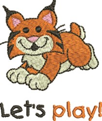 Baby Tiger Lets Play embroidery design