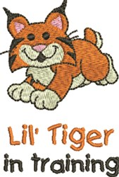 Lil Tiger In Training embroidery design