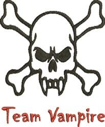 Team Vampire embroidery design