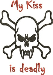 Vampire Skull Deadly Kiss embroidery design