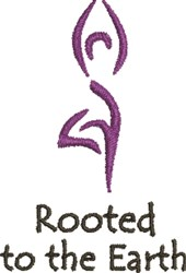 Rooted To The Earth embroidery design