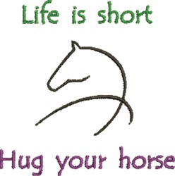 Hug Your Horse  embroidery design