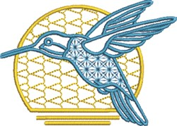 Hummingbird Morning embroidery design