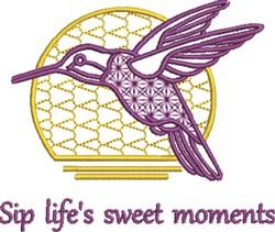 Hummingbird Moments embroidery design