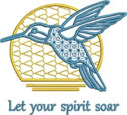 Hummingbird Spirit embroidery design