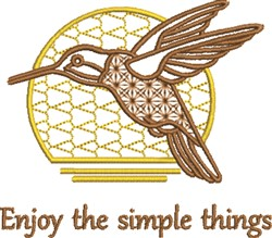 Simple Hummingbird embroidery design