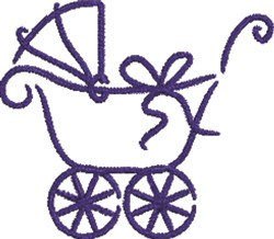 Boy Baby Carriage  embroidery design