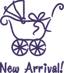 Boy Baby Carriage Arrival embroidery design