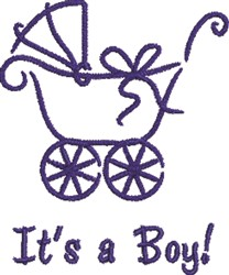 Boy Antique Pram embroidery design