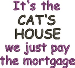 Cats House  embroidery design