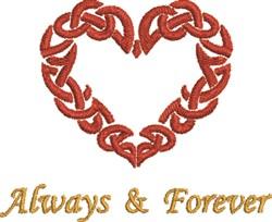 Celtic Heart Forever embroidery design