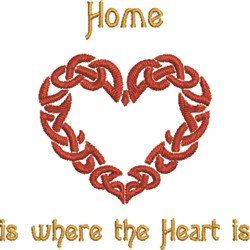 Celtic Heart Home embroidery design