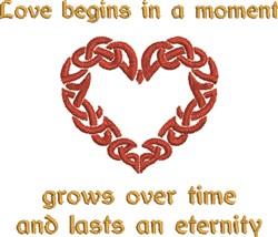 Celtic Heart Love embroidery design